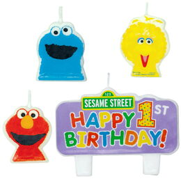 1st birthday molded candle set