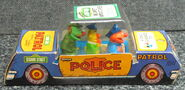 Child guidance muppet miniatures sesame pvc police car 1