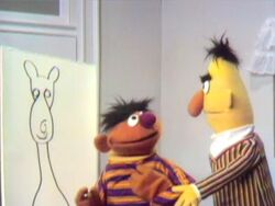 Ernie Tries To Draw A 3