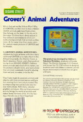 Hi tech 1987 grover's animal adventures 2