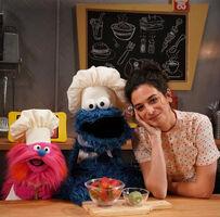 Jenny Slate on Sesame Street