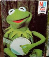Milton bradley 1979 muppet movie puzzle kermit banjo