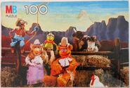 Milton bradley 1981 puzzle muppet cowboys