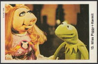 Sweden swap gum cards 13 miss piggy and kermit