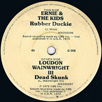 CBS1972RubberDuckieDeadSkunkSingle
