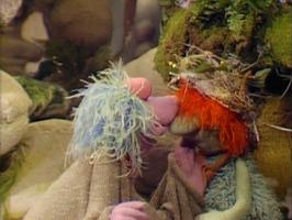 Mokey, Boober, his new hat and a kiss