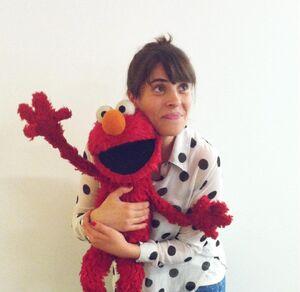 Sarah Rebar with Elmo