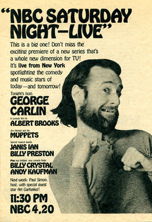 George Carlin SNL TV Guide