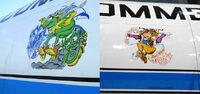 Logos on plane