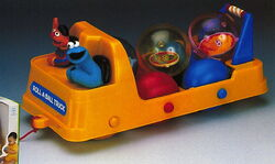 1992 baby toys roll-a-ball truck