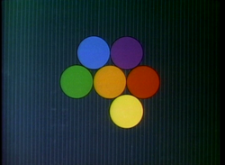 Geometry of Circles 3 - Six Colored Circles