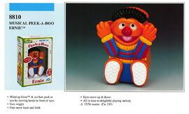 Illco 1992 baby toys musical peek-a-boo ernie