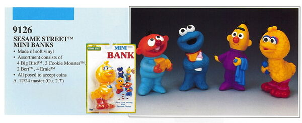 Illco 1992 sesame street mini banks
