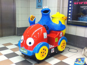 Single seater Cookie Monster car