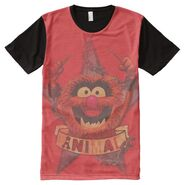 Zazzle animal red all over shirt