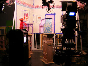 Filming Elmo's World