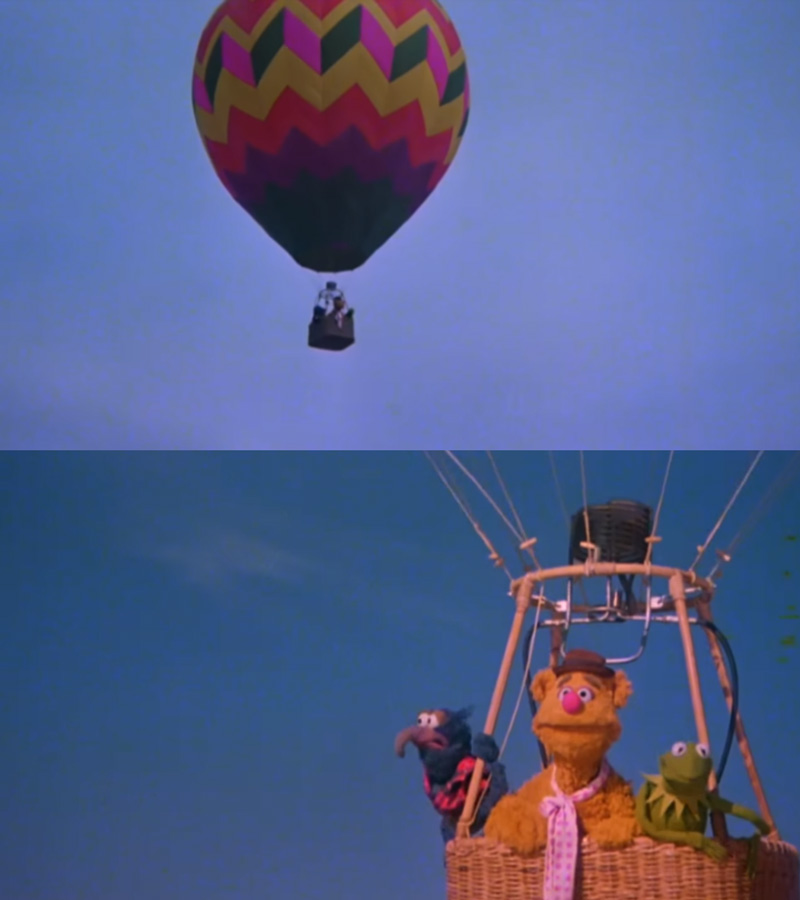 Image result for hot air balloon muppets