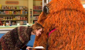 Annie Evans with Snuffy