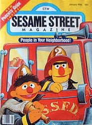 Sesame street magazine january 1986
