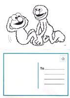 Elmo And Grover Postcard