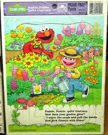 Golden 1993 frame-tray puzzle prairie dawn elmo