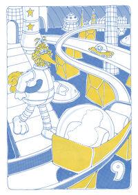 Sesame Street in Space Sticker Book 013