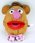 Play by play muppets inc 1997 fozzie face plush nylon 1