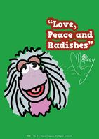 Poster Fraggle Rock-Love, Peace And Radishes