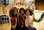 Amy Van Gilder and Louise Gold with Sylvester Stallone