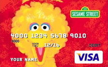 Sesame debit cards 36 big bird