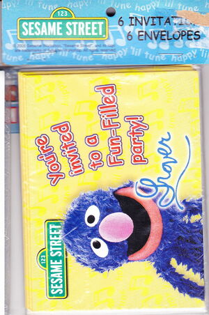 Sterling greetings 2005 grover party invitations f