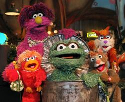 Oscar the Grouch at Sesame Tree