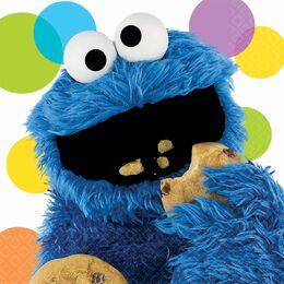 Cookie mosnter napkins