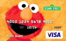 Sesame debit cards 32 elmo