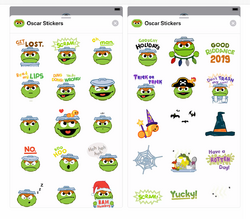 Oscar iMessage stickers