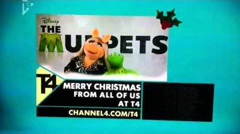 Uk T4 TV muppets Christmas greeting