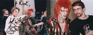 Ziggy Stardust puppet