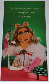Hallmark 1982 christmas cards piggy 1