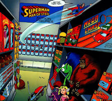 Supermantoyman-kermitcookiemonster