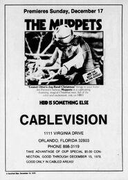 HBO Emmet Otter ad Orlando Sentinel Dec 10 1978