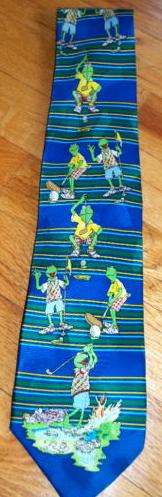 Kermit collection golfing tie