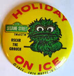Holiday on ice oscar button