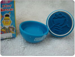 Sanrio egg rubber stamp cookie monster 3
