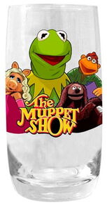 Diamond pint glass kermit