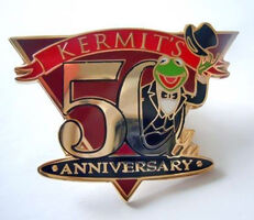 Kermit's 50th Anniversary pin for Disney employees
