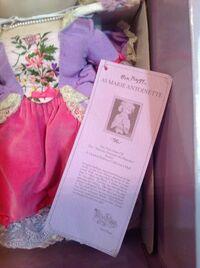 Marie Antoinette doll - tag