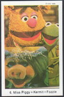 Sweden swap gum cards 6 miss piggy kermit fozzie