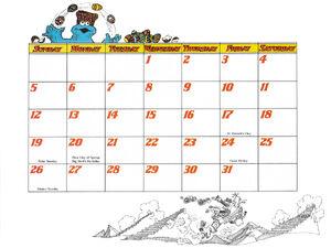 1978 calendar 03 March b