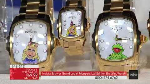 Invicta Baby or Grand Lupah Muppets Limited Edition Quartz Stainless Steel Bracelet Watch