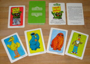 Golden whitman 1982 flash card games strike up the band you're a grouch bert's game twiddlebug 5